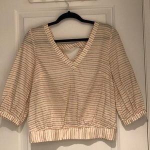 Anthropologie 9-H15 STCL 🟥⬜️🟦 blouse